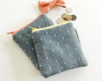 swiss chambray mini pouch