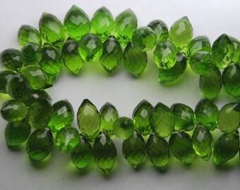 New Arrival,20 Pcs,Superb-Finest Quality,VESSONITE Quartz Faceted Dew Drops Shape Briolettes,11-12mm size,