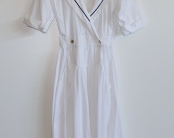 80's Sailor Inspired Day Dress