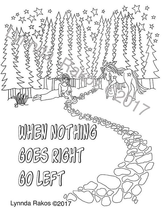 Digital Download Coloring page with Saying coloring sheets
