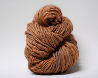 Thick Thin Merino Yarn Slub Yarn TTS tts(tm) 33tts4X16004 Saddle Brown