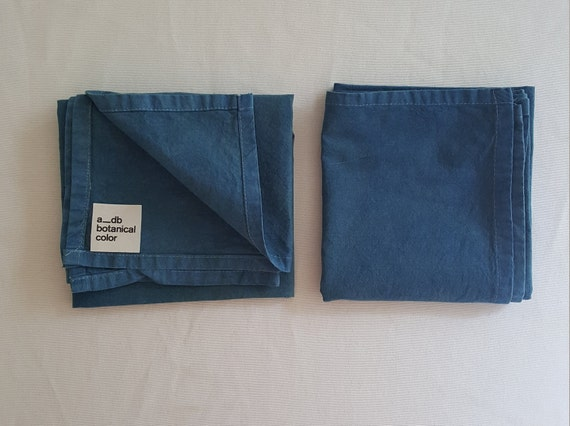 Botanically Dyed Cotton Towel /Indigo Dyed / Kitchen Linens / Naturally Dyed / Dyed Cotton / Bathroom Linens / Hand towels /