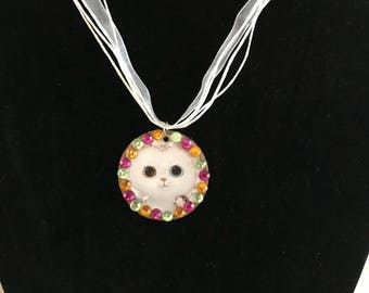 I Like Kitty Cats - Wide-eyed Necklace
