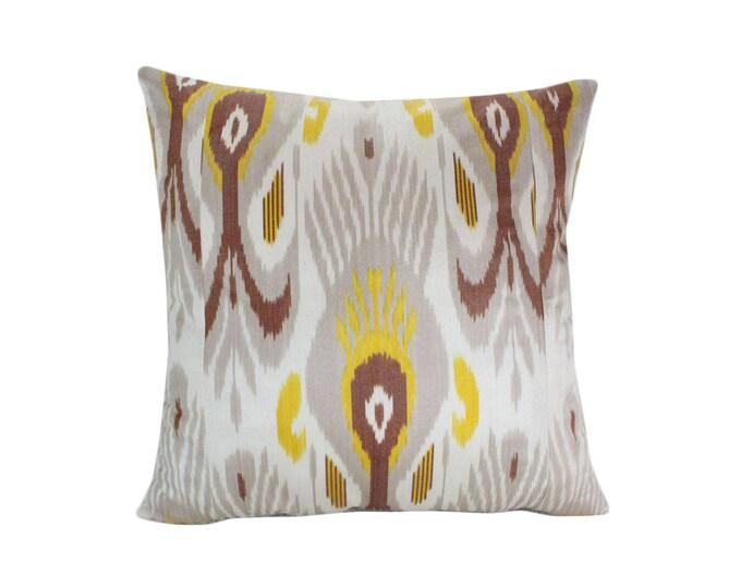 Ikat Pillow, Handmade Ikat Pillow Cover  IP163 (S187), Ikat throw pillows, Designer pillows, Decorative pillows, Accent pillows