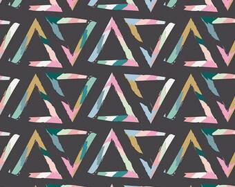 KNIT Art Gallery Chalk & Paint Triangle Brush Tempera Knit (Half metre)