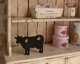 Cow Chalkboard for kitchen - Miniatiure Dollhouse - 01:12 Scale