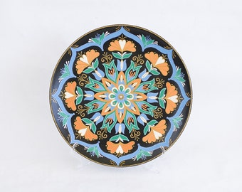Large decorative plate Southern Flower - Christmas gift - Wall hanging plate - Point-to & Large decorative plate Mandarin Sunset Wall hangings