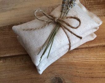 Natural Cotton Sachets With Dried Lavender or Dried Rose Petals-Wedding & Party Favor-Rustic/Natural-Engagement/Bridal Shower-Garden Wedding