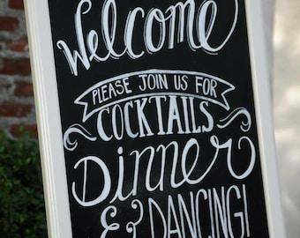 Custom Chalkboard wedding welcome sign