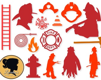 Firefighter,Firefighter svg, Fireman , SVG files for Silhouette Cameo or Cricut, vector, .svg, dxf eps