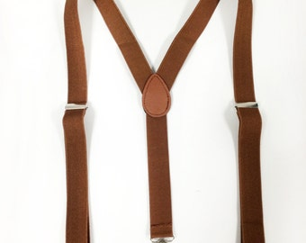 Suspenders and bowtie - [tan/brown] suspenders set - for children 6+, teens and adults. suspenders and bowtie set