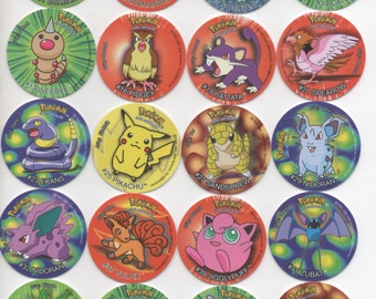 TAZOS POKEMON - Pogs 1rst Serie - Complete Set 1-51 Vintage Toys Complete Collection Figures Bonecos Rare Set Near Mint Tasos Game Kids