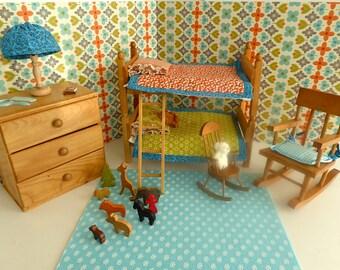 """STROMBECKER BUNKBEDS for all 7""""-8"""" dolls like Mini American Girl"""
