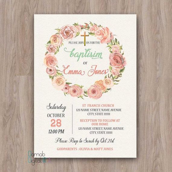 Baptism invitation girl baptism invitation printable baptism stopboris Gallery