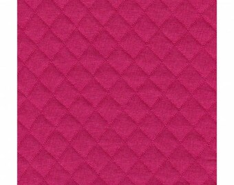 Fuchsia quilted jersey fabric