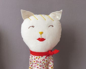 Minette - Cat Plush Toy stuffed Doll Plushie Softie