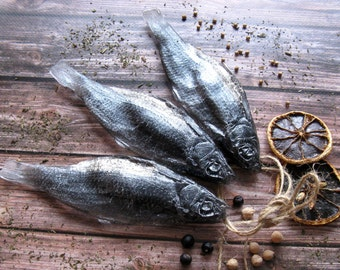 Fish Soap - 3 soap, creative handmade soap, fish, black soap, soap for men, gift husband, Men's Day gift, snack, snack to beer, dried fish
