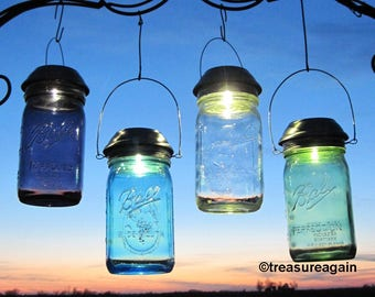 multi color outdoor solar jar design. Choice Mason Jar Solar Light New Purple, Green, Clear,or Blue Ball Multi Color Outdoor Design