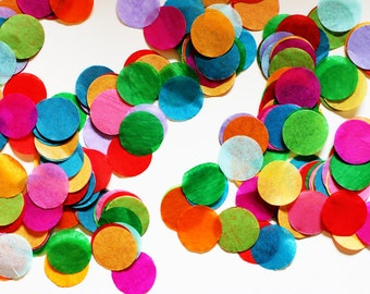 Tissue Rainbow Confetti - Circle Shaped