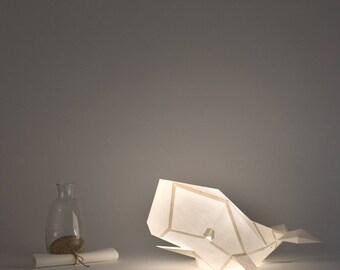 Cachalot - DIY Paperlamp ( pre-cut papercraft kit, DIY paper lamp )