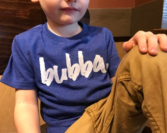 Bubba, bubba t shirt, big bubba, bubba shirt, trendy toddler, cute kids clothes, graphic tee, hipster kid, handsome dude