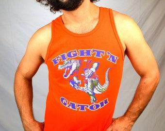 Vintage 80s University of Florida Gators Orange Tee Shirt Tank Top