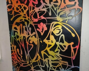 Original Graffiti Abstract 30in x40in.