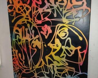 Original Graffiti Abstract 30in x40in.