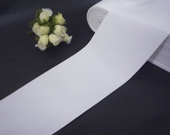 Soft handfeel White Waistband Elastic Band Trim 3 inch / 7.6 cm width  -  thickness 0.5mm EB25