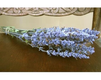 DRIED FLOWER Bunch BLUE Salvia All Natural Dried Flowers, Wedding Flowers, Denim Blue Dried Flowers, Flower spikes Air Dried Flower bouquet