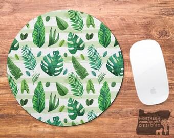 banana leaf / mouse pad / banana leaf mouse pad / mousepad / leaves / office decor / custom mouse pad / mouse mat / monogram / cute mousepad