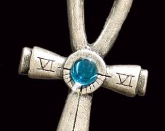 Portable Sundial, necklace Ankh