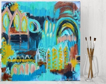 Colorful dream world on canvas brings life to your home