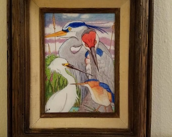 """Marshies - Marshland birds. PRINT  8.5""""x11"""""""