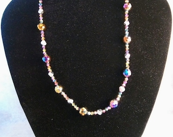 Multi-faceted Crystal Necklace