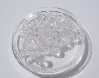 100 - Faceted 4mm Crystal  Czech Glass Beads