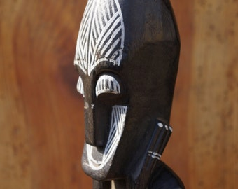 Original African handmade statue Guardian Spirit Two Faces