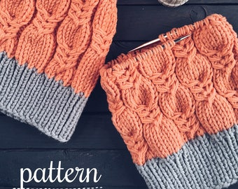 Pattern: Woolture MADISON Beanie Pattern Instant Download / Knit Hat Pattern / Cable Beanie Knitting Instructions