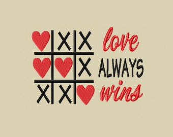 Love Always Wins -A Machine Embroidery Design
