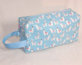 Llamas on Blue Project Bag