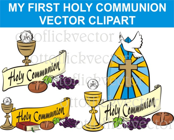 My First Holy Communion Vector Clipart Religion Symbols Eps