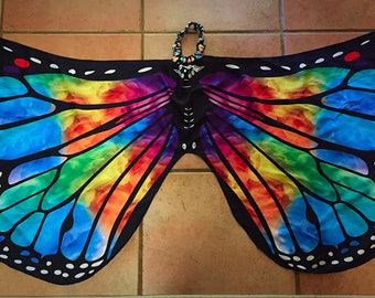 Butterfly wings small adult/teens/child lightweight  for dancing or costume/cosplay/Halloween/festivals/parties