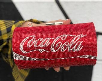 Rhinestone Coca Cola Clutch