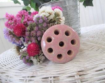 Vintage Flower Frog * McCoy Pottery