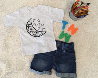 I love you to the moon and back- Kid's Tee- Baby sayings- Kid Style