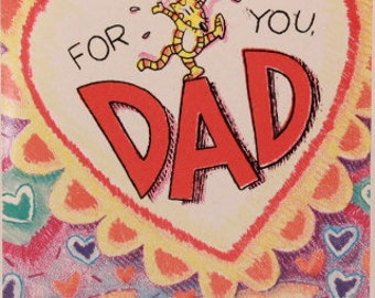 NEW! Vintage For You Dad on Valentine's Day by Dayspring. Single Greeting Card with Envelope.