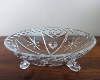 Vintage, Cut Glass, Candy Dish