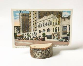 Linen Postcard 1920s Mayflower Hotel Souvenir Washington DC Harvey's Restaurant Collectible Postcard Unused