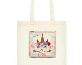 Unicorn Tote Bag,  Teacher Tote, Unicorn Tote Bag Market Bag Book Bag  tote canvas bag, carry bag, shopping bag, shoulder bag, bag name tote