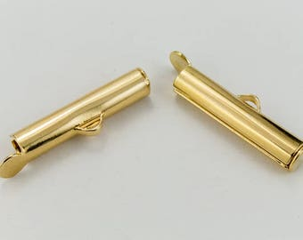 20mm Bright Gold Slide Tube #MFA109